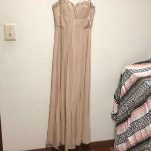 NWOT BCBG Maxazria peach/blush dress